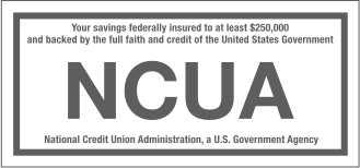 Federally Insured by NCUA, logo. Astera Credit Union savings are federally insured up to $250,000 by the National Credit Union Administration (NCUA) and backed by the full faith and credit of the United States Government
